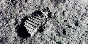 Foot Step on moon