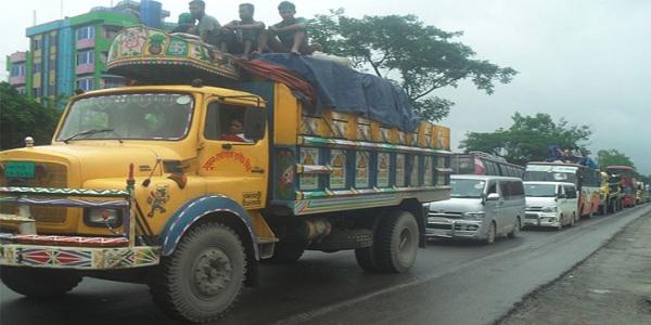 ঢাকা-টাঙ্গাইল মহাসড়কে ৪০ কিলোমিটার  জুড়ে যানজট