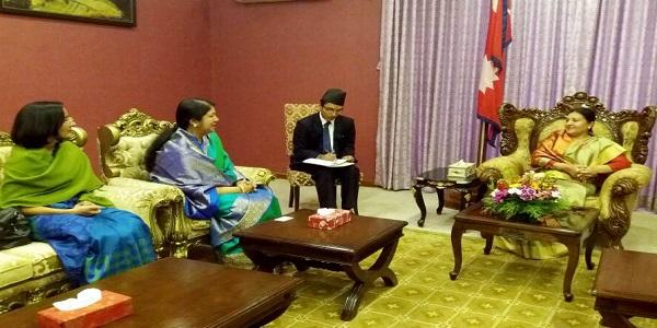 নেপালের রাষ্ট্রপতির সঙ্গে বাংলাদেশি স্পিকার