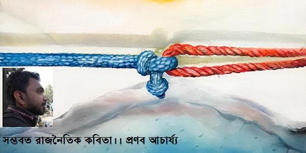 সম্ভবত রাজনৈতিক কবিতা।। প্রণব আচার্য্য