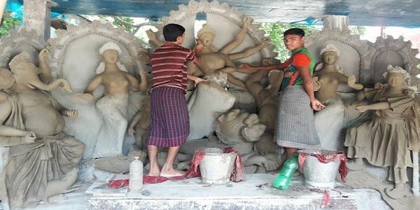 আসছে দুর্গাপূজা 'ঢাকের বাজনায়' মুখরিত হবে পাড়া-মহল্লা