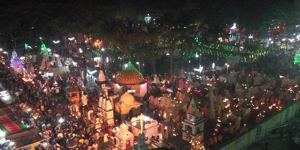 বরিশালে উপমহাদেশের সর্ববৃহৎ শ্মশান দীপালি উৎসব