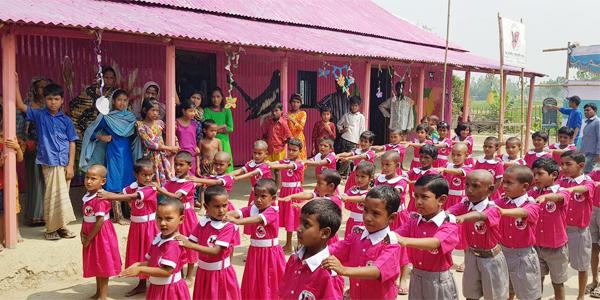 বগুড়ার চরে শিক্ষার আলো ছড়াবে 'উচ্ছাস স্কুল'