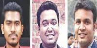 ডাকসু নির্বাচন: ভিপি নুরুল হক নুর, জিএস গোলাম রাব্বানী ও এজিএস সাদ্দাম হোসেন