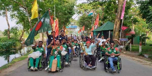 ভারত জয় করে ফিরলো হুইলচেয়ার ক্রিকেট দল