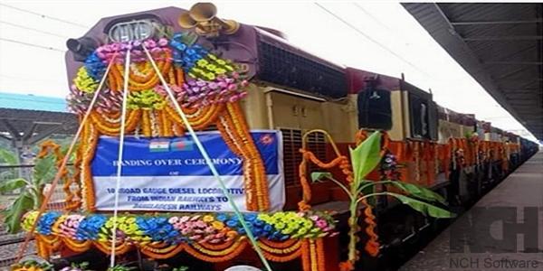 বাংলাদেশ রেলওয়েকে ১০টি ইঞ্জিন উপহার দিলো ভারত